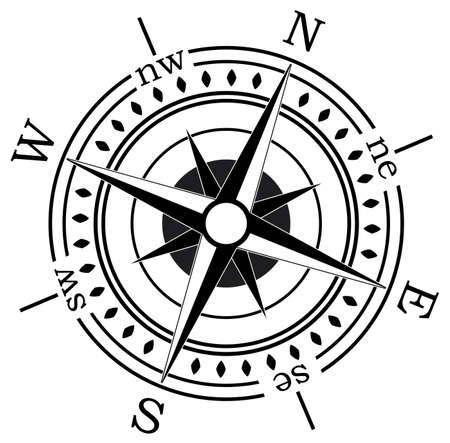 compass vector: vector compass on white background Illustration