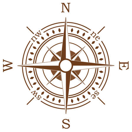 compass: compass on white background
