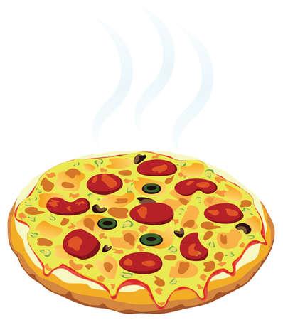vector warme Italiaanse pizza