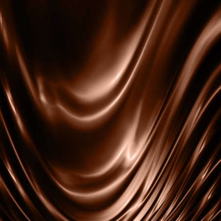 melting chocolate: wavy and smooth chocolate background Stock Photo