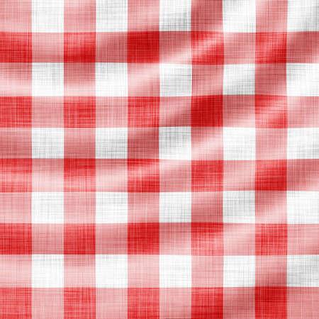 picnic cloth: digitally made wavy red picnic cloth  Stock Photo