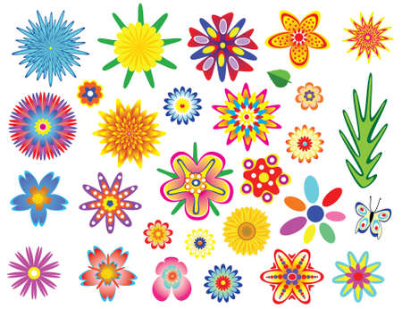 flowers set Stock Vector - 6485971