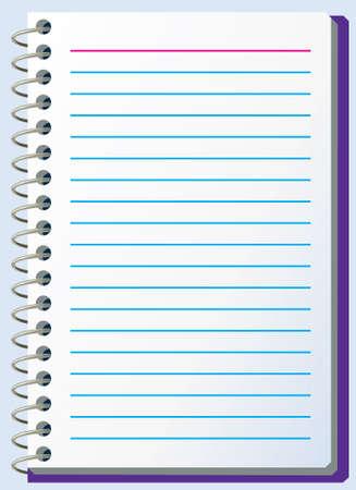 illustration of notepad Vector