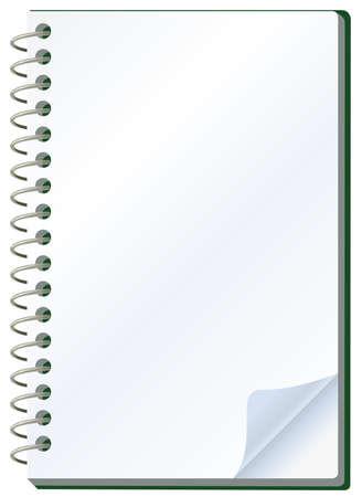 Illustration du bloc-notes Vecteurs