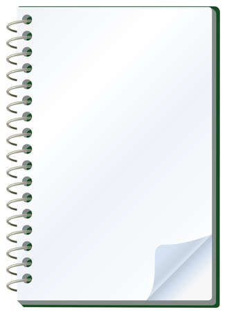 paper punch: illustration of notepad