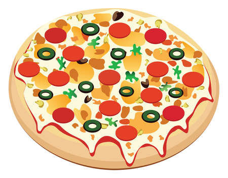 italian sausage: pizza with sausage and vegetables