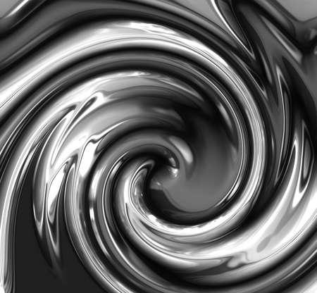 liquid metal: ricciolo di astratta metallo liquido