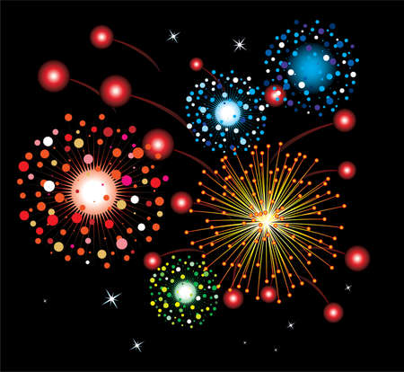 vector fireworks background Stock Vector - 6573253