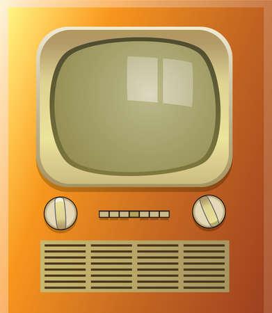 vector retro tv set Vector