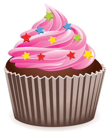 pink cupcake  Stock Vector - 6599645