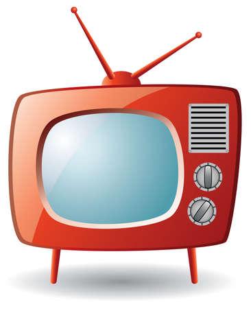 jeu de tv rétro rouge
