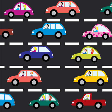 cars on the road Stock Vector - 6599606