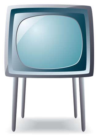 vector retro tv set on long legs Stock Vector - 6703978