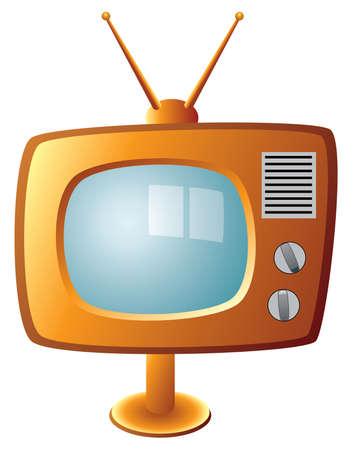 vector retro tv set Stock Vector - 6703972
