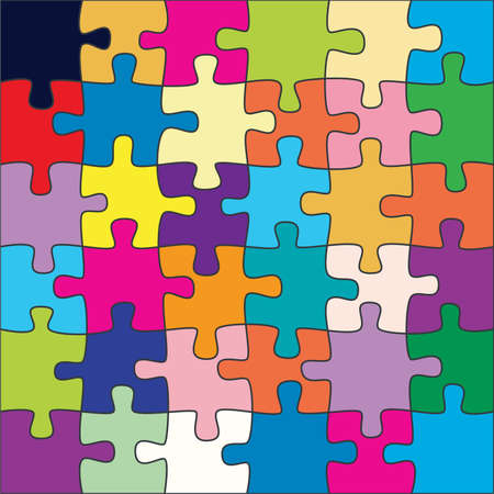 unique concept: colorful puzzle background