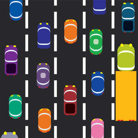 cars on the road Stock Vector - 6780872