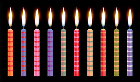 colorful birthday candles  Stock Vector - 6780903