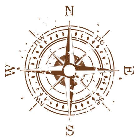 dial compass: grunge compass