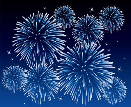 blau Feuerwerk Hintergrund