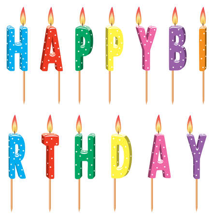colorful birthday candles Stock Vector - 6780899