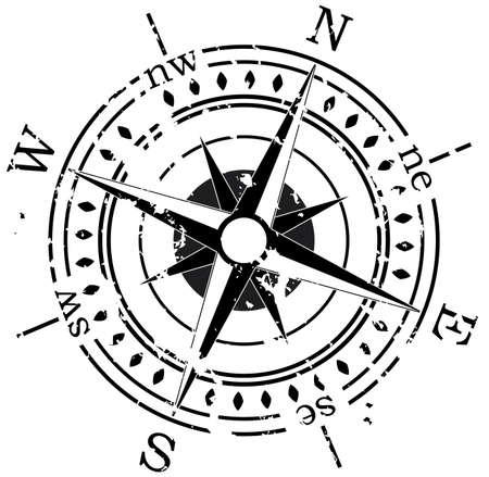sea star: grunge compass