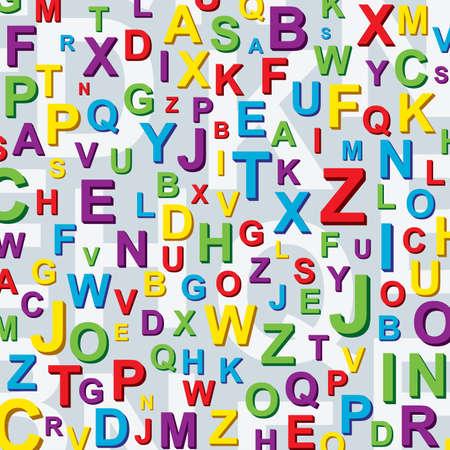 kids abc: Fondo de letras coloridas