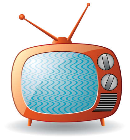 retro tv set  Illustration