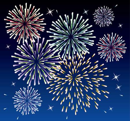 vector fireworks background Stock Vector - 7013655
