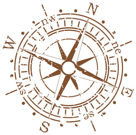 grunge shape: grunge vector compass  Illustration