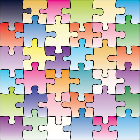 colorful puzzle background Stock Vector - 7051474