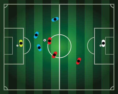 Ilustración de partido de fútbol de fútbol  Foto de archivo - 7051482