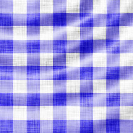wavy blue picnic cloth  Stock Photo - 7051487