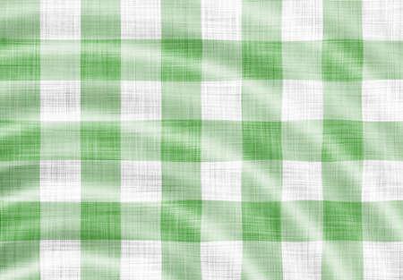 wavy green picnic cloth  Stock Photo - 7051486