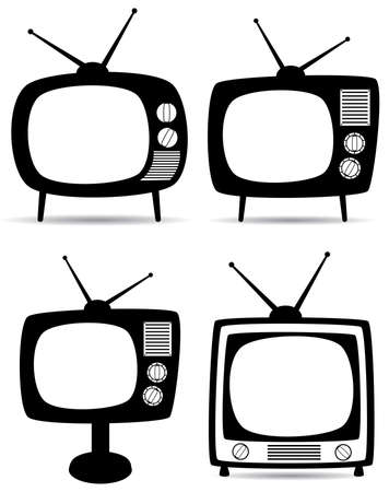 retro tv set  Vector