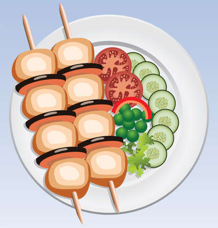 grilled chicken:  grilled chicken and vegetables