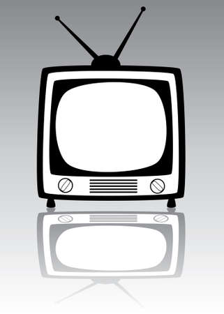 retro tv set Stock Vector - 7163332