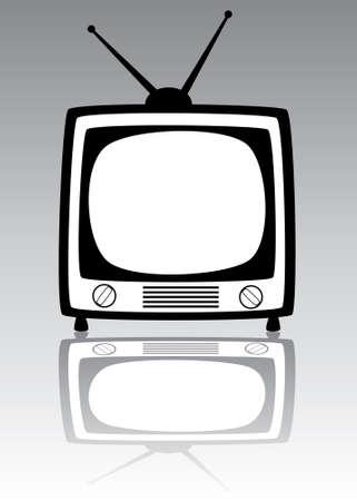 retro tv set Stock Vector - 7163332