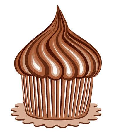 chocolate cupcakes:  chocolate cupcake Illustration