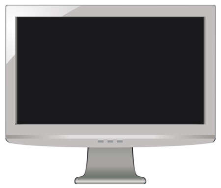 gray LCD screen with black display Stock Vector - 7163302