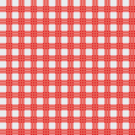red picnic cloth Stock Vector - 7220729