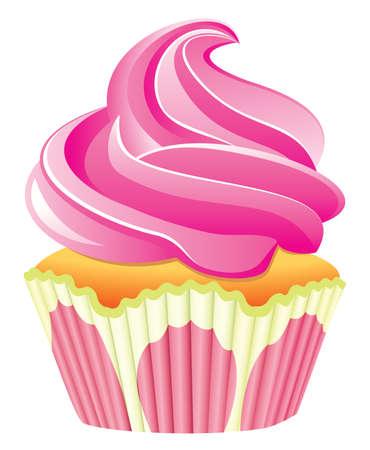 pink cupcake Stock Vector - 7220698