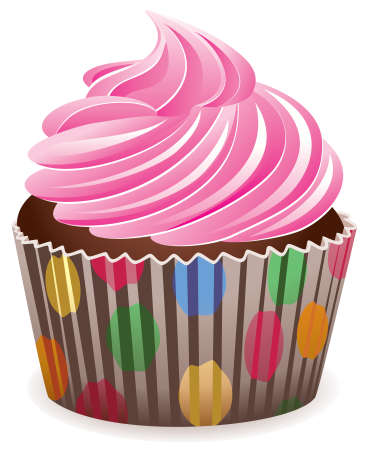 pink cupcake Stock Vector - 7318232