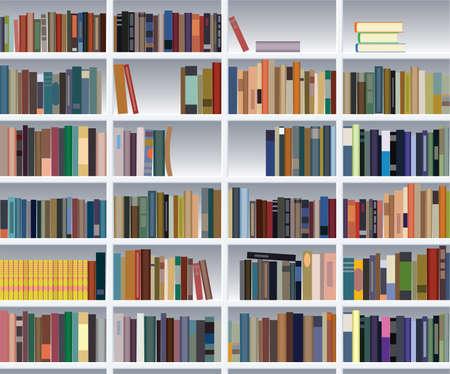 bibliotecas: estanter�a moderna de vector  Vectores