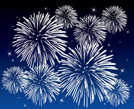 vector fireworks background Vector