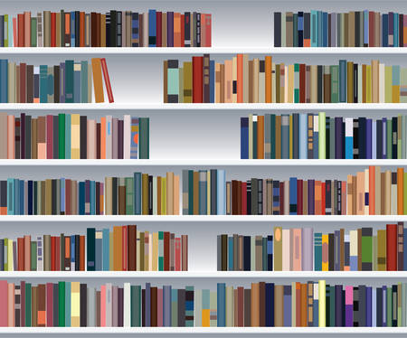 modern bookshelf Stock Vector - 7333978