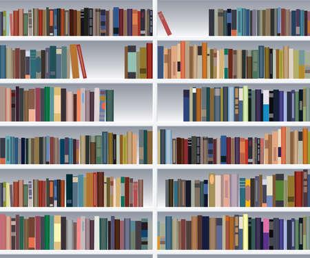 moderne boeken plank Vector Illustratie