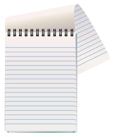 note de service: Illustration du bloc-notes