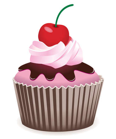 fairy cake: cupcake with cherry
