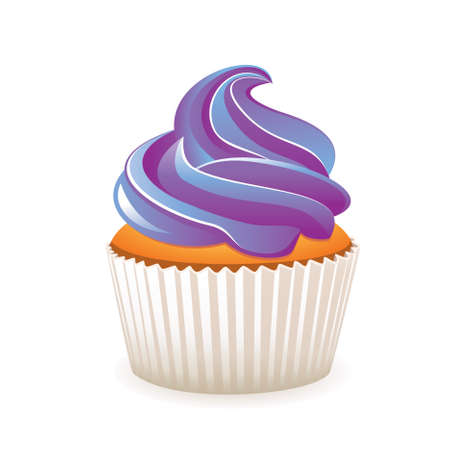 cupcake illustration: purple cupcake