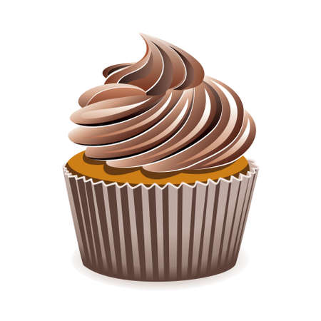 cupcake illustration: chocolate cupcake